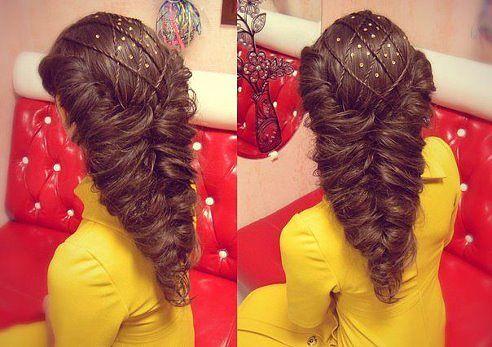 Красивые прически из длинных волос на праздник